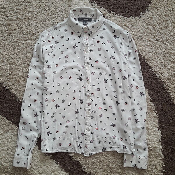 Красивая рубашка в интересный принт  Primark pp. XS-S