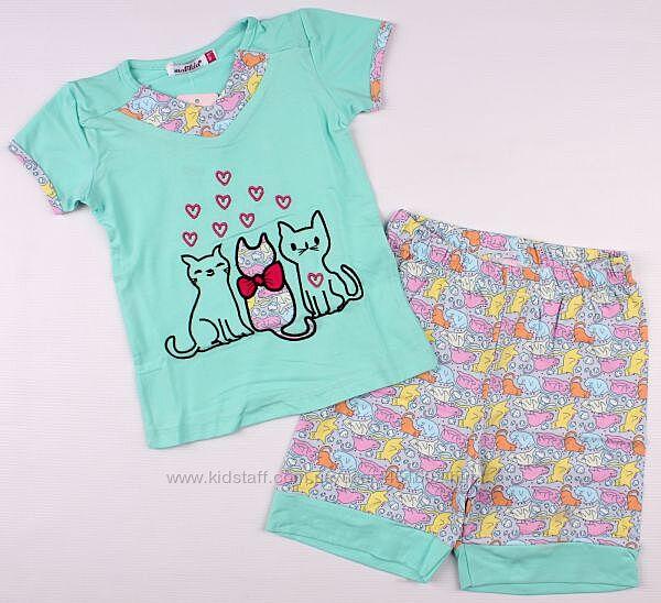 Стильная пижама для девочки из плотного трикотажа ТМ Breeze, Турция Хлопок