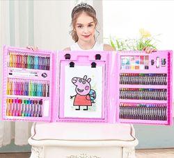 Набор для творчества в чемодане 208 предметов, набор для рисования