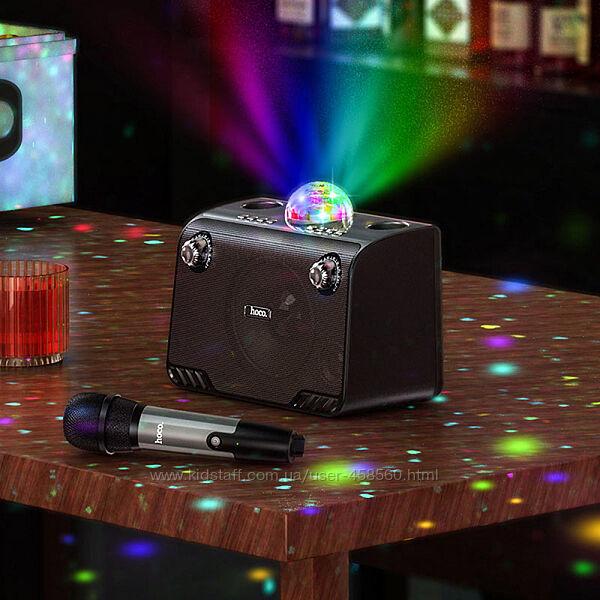 Портативная колонка с микрофоном и диско шаром Hoco BS41 Новая Гарантия