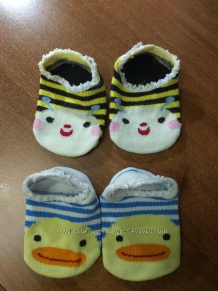 Носочки пинетки для малышей с антискользящим покрытием