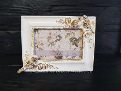 Белая рамочка с птицами