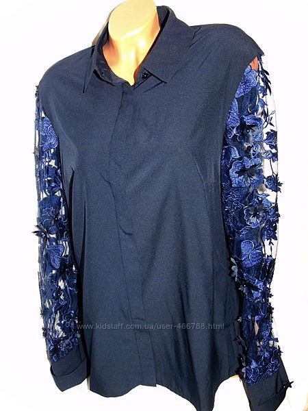 Шикарная блуза с красивыми рукавами - аппликация - 52 - 54
