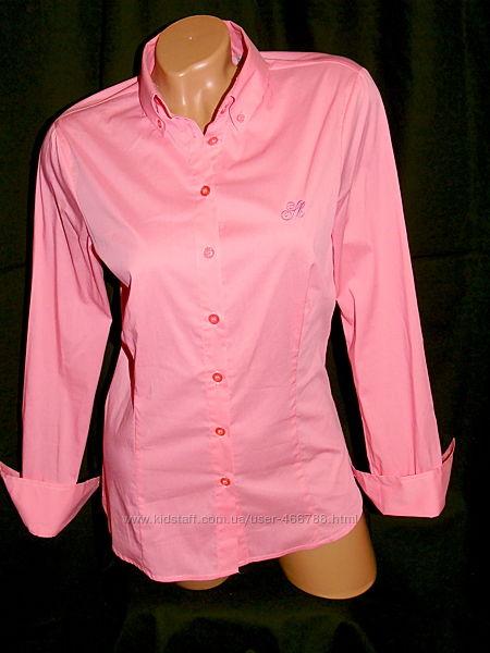 Шикарная рубашка персикового цвета  - S - M