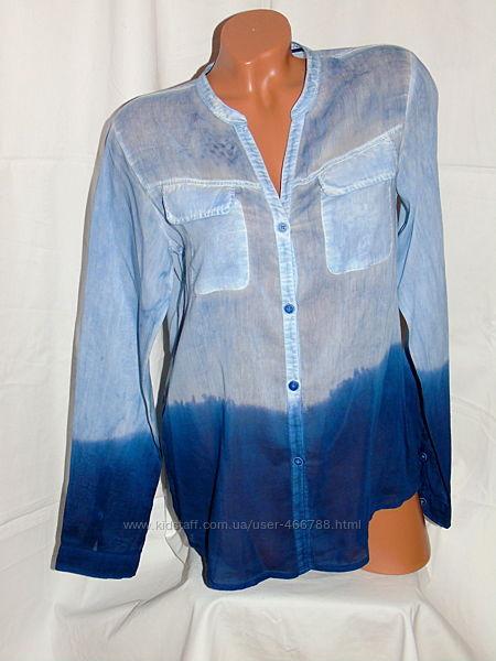 GAASTRA BLUE  Шикарная блуза - градиент - M - L