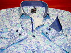 OLYMP  Шикарная брендовая рубашка  - M - S