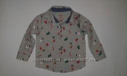 нарядная рубашка рождество р 6-9  мес