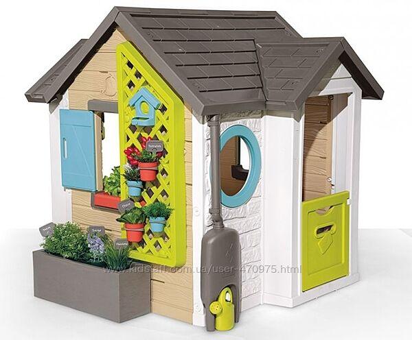 Детский игровой домик Садовый с аксессуарами Smoby Garden House 810405