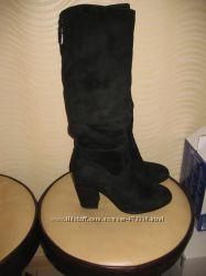 Зимние ботинки женские , замша р 40 по стельке 25, 5 - 26 см.