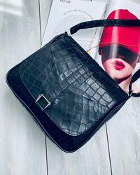 Шикарная кожаная сумочка кроссбоди из натуральной кожи