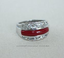 Кольцо из серебра родированное