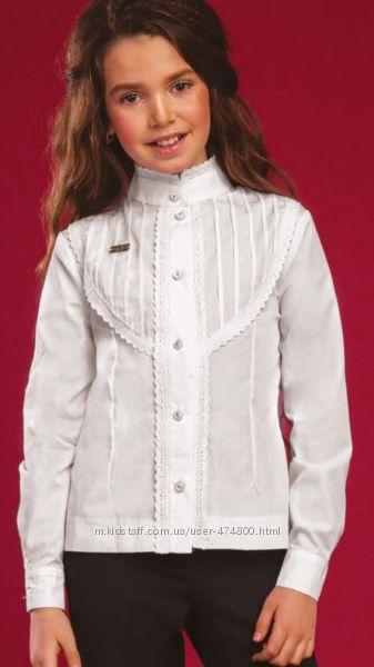 Блуза рубашка школа 116-164 см