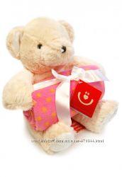 Детский подарочный набор - флисовый плед и плюшевый медведь, Польша