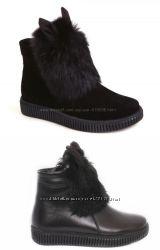 Зимние ботинки с ушками Каприз модель КШ-540