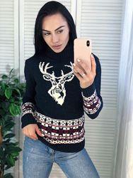 Зимние теплые свитера с оленями, Турция