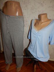 Marks&Spencer пижама скомбинированная вискозная футболка со штанишками р16