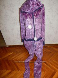 Marks&Spencer слип, пижама, человечек с капюшоном флисовый мягкий, тёплый р