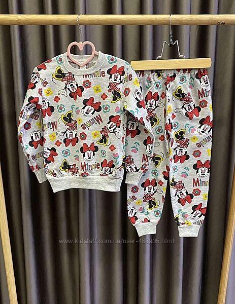 Байковая пижама для девочки 4-8 л Минни