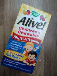 Nature&acutes way Alive детские жевательные мультивитамины, 120 шт на 2 мес