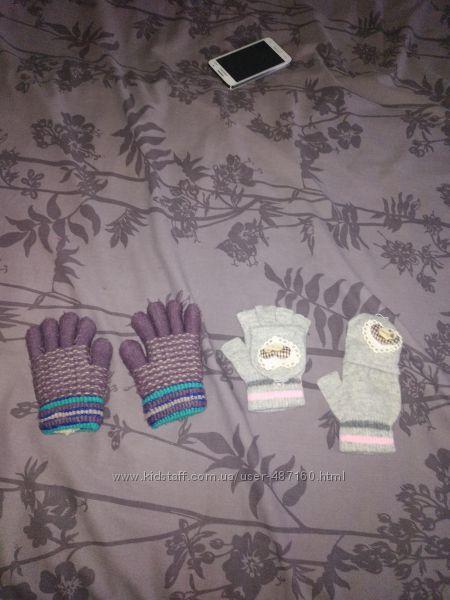 Перчатки на девочку 4-6 лет зимние