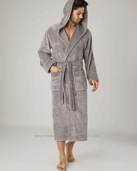 Мужской махровый халат. Премиум качество 100 хлопок