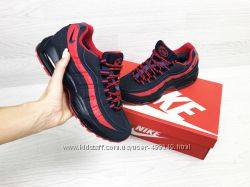 Зимние кроссовки Nike 95 dark bluered