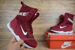 Сапоги зимние Nike burgundy