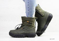 Зимние женские ботинки Fila dark green