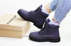 Зимние женские ботинки Timberland violet