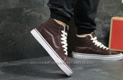 Зимние мужские кеды высокие Vans brown 6497