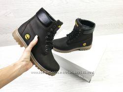 Зимние женские ботинки Timberland dark brown