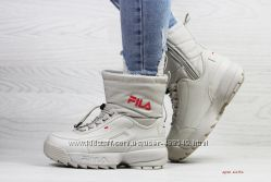 Зимние женские ботинки Fila beige
