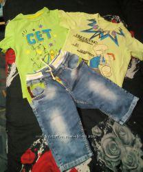 Джинсовые шортыбриджи, футболки