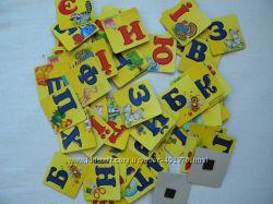 азбука, цифры на магнитах