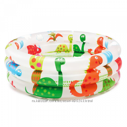 Детский надувной бассейн intex динозаврики