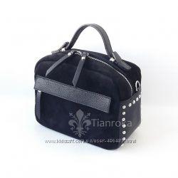 Новинка. Стильная сумка портфельчик, кожа и замша 6 цветов. Италия.