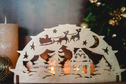 Новогодний декор из фанеры. Набор для творчества, деревянные украшения