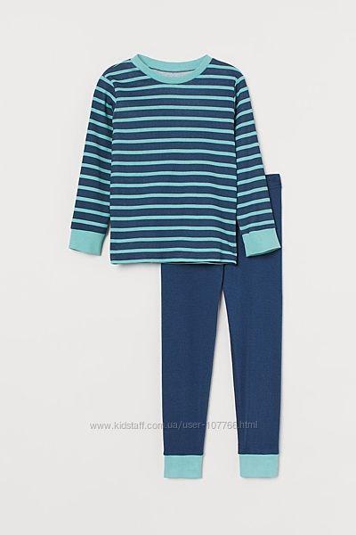 Хлопковая, приятная к телу пижама h&m