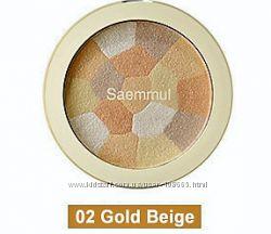 Мозаичный хайлайтер The Saem Saemmul Luminous Multi Highlighter 02 Gold Bei