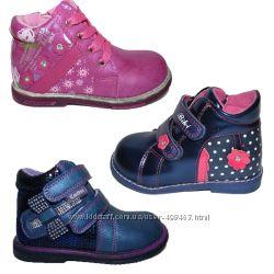 Ортопедические демисезонные ботинки для девочки, 18-24 размер