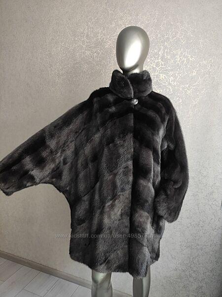Норковая шуба кимоно, летучая мышь, кокон. Италия. Большой размер. Батал.