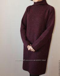 Вязаные  теплые платья на заказ