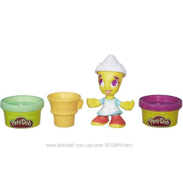 Play-Doh Town Мороженое с 2 банками теста