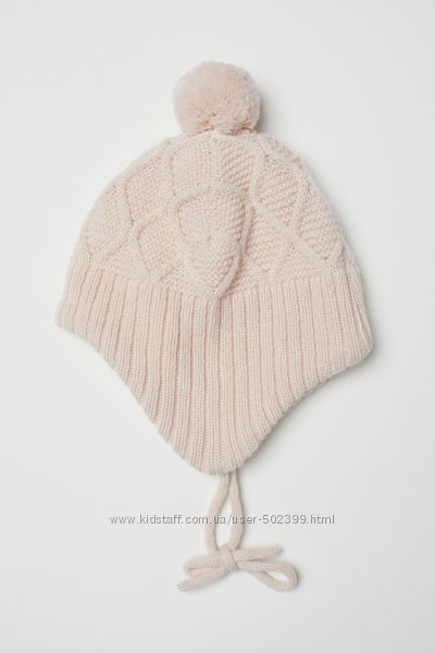 Зимняя шапочка для девочки H&M, 6-12 мес