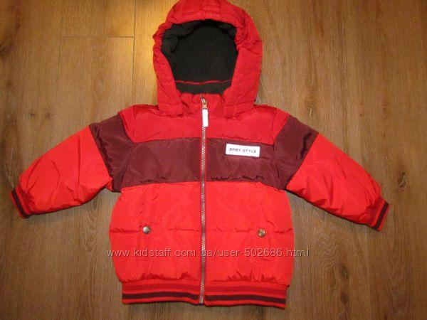 Зимняя куртка теплая Topomini 92-98 см Германия