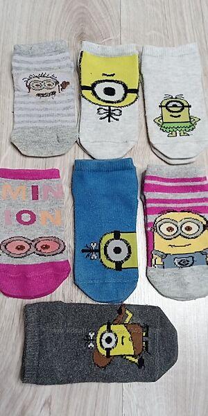 носочки, носки с миньонами на 3-4 года