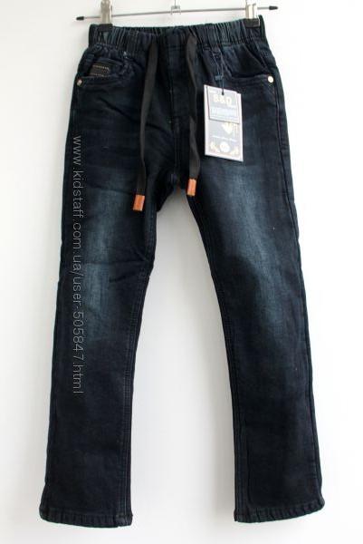 Тёплые чёрные джинсы модникам 116-140 см. Венгрия.