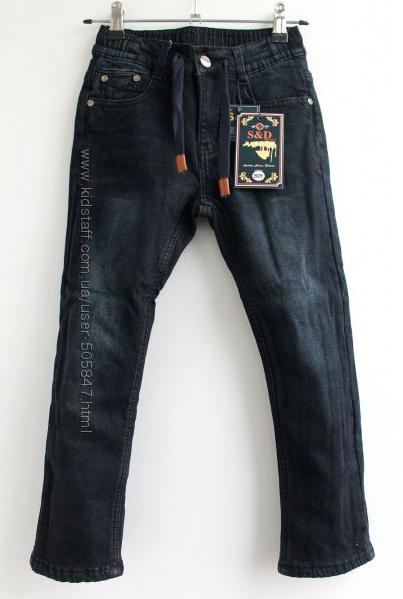 Тёплые чёрные джинсы модникам 116, 122, 128 см. Венгрия.