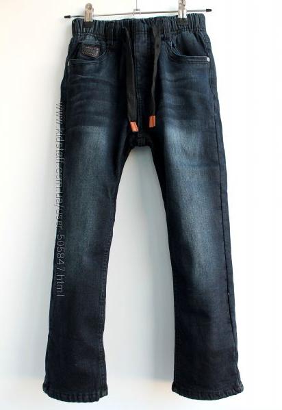 Тёплые чёрные джинсы модникам 8,10,18 лет. Венгрия.