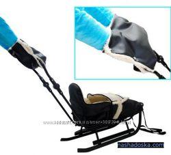 Муфта для рук на санки, коляску-фирма Adbor серая